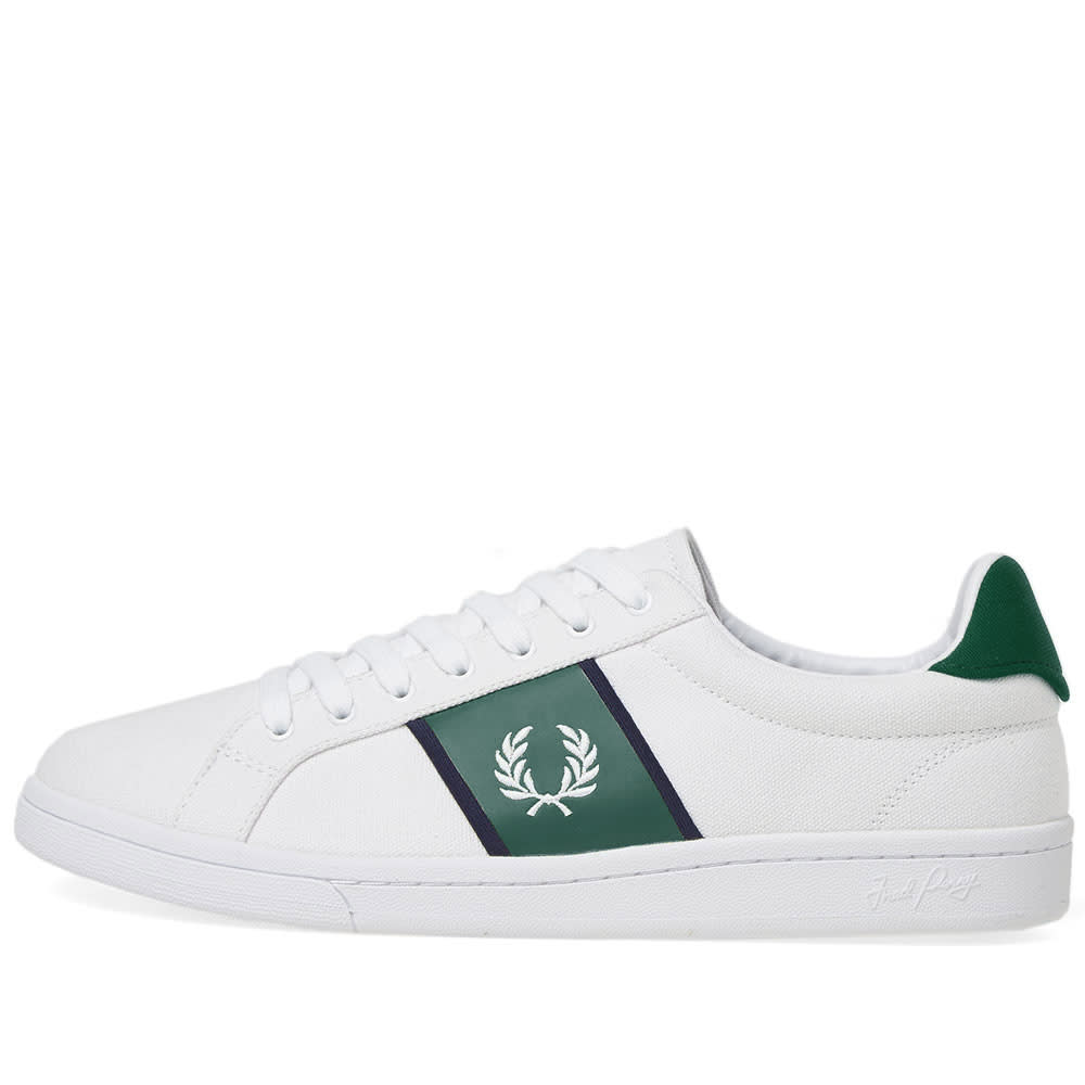Fred Perry B721 Canvas Sneaker White