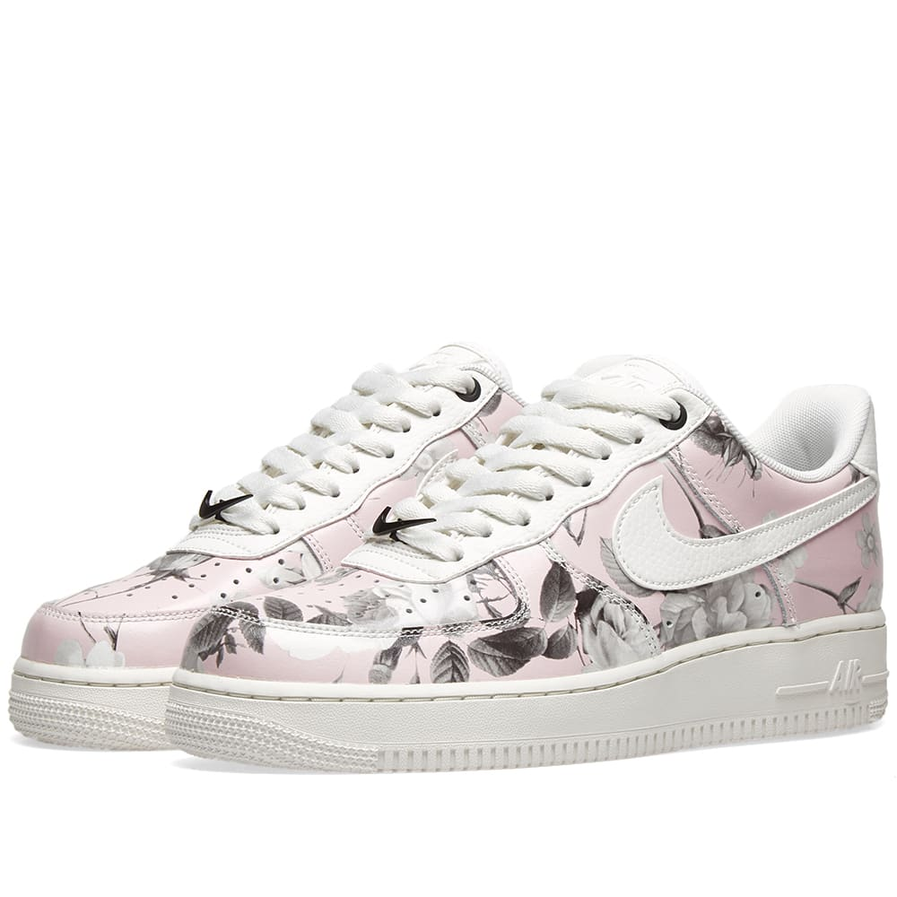 NIKE WOMENS AIR FORCE 1 '07 LXX Floral Rose