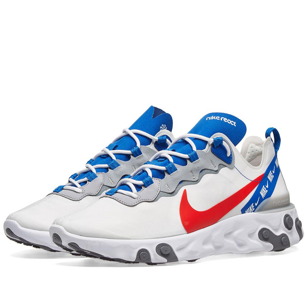 Nike React Element 55 White, Red