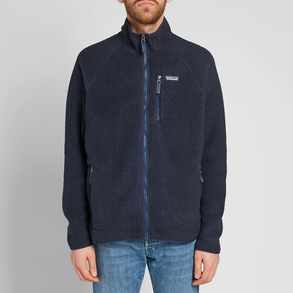 online retailer really comfortable super cute Patagonia Retro Pile Jacket Navy Blue | END.