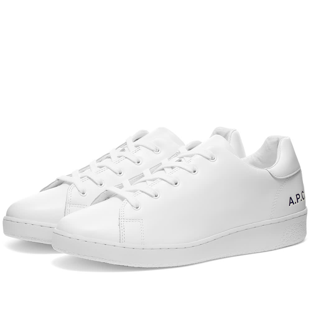 A.P.C. Leather Tennis Sneaker White | END.