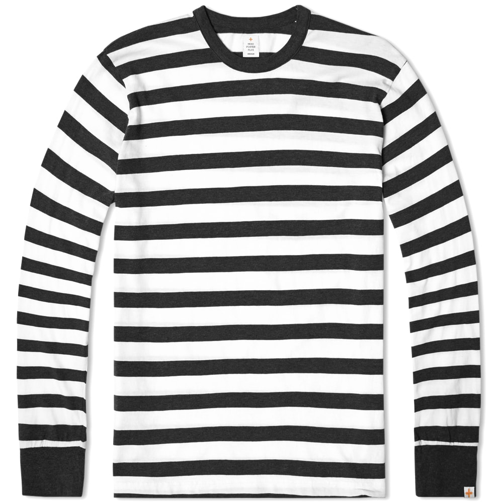 One Adult Sized Black and White Striped Long Sleeve Shirt. Classic black and white long sleeve shirt made of a poly cotton blend material. Featuring a large, bold, dynamic strip patter.