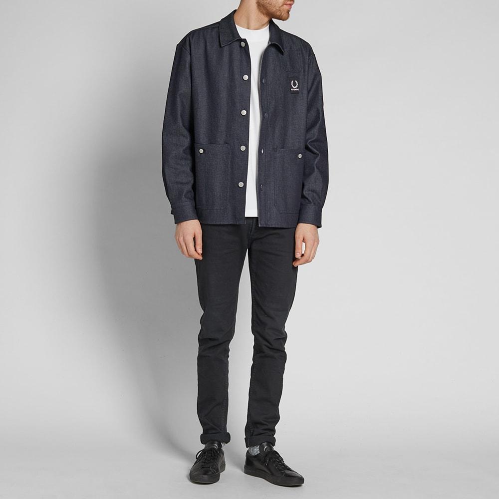 2dd58aabc Fred Perry x Raf Simons Denim Shirt Jacket Dark Indigo | END.