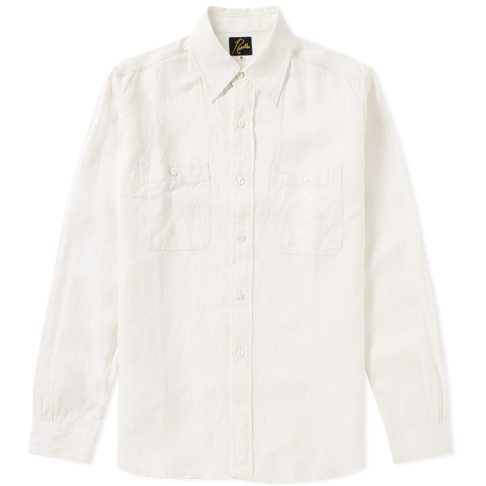 NEEDLES ELBOW PATCH WORK SHIRT