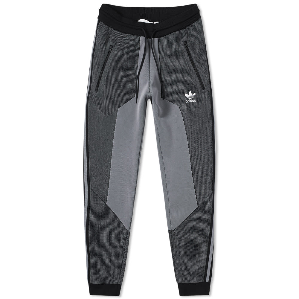 reputable site de631 692ea Adidas PLGN Track Pant Grey   Black   END.
