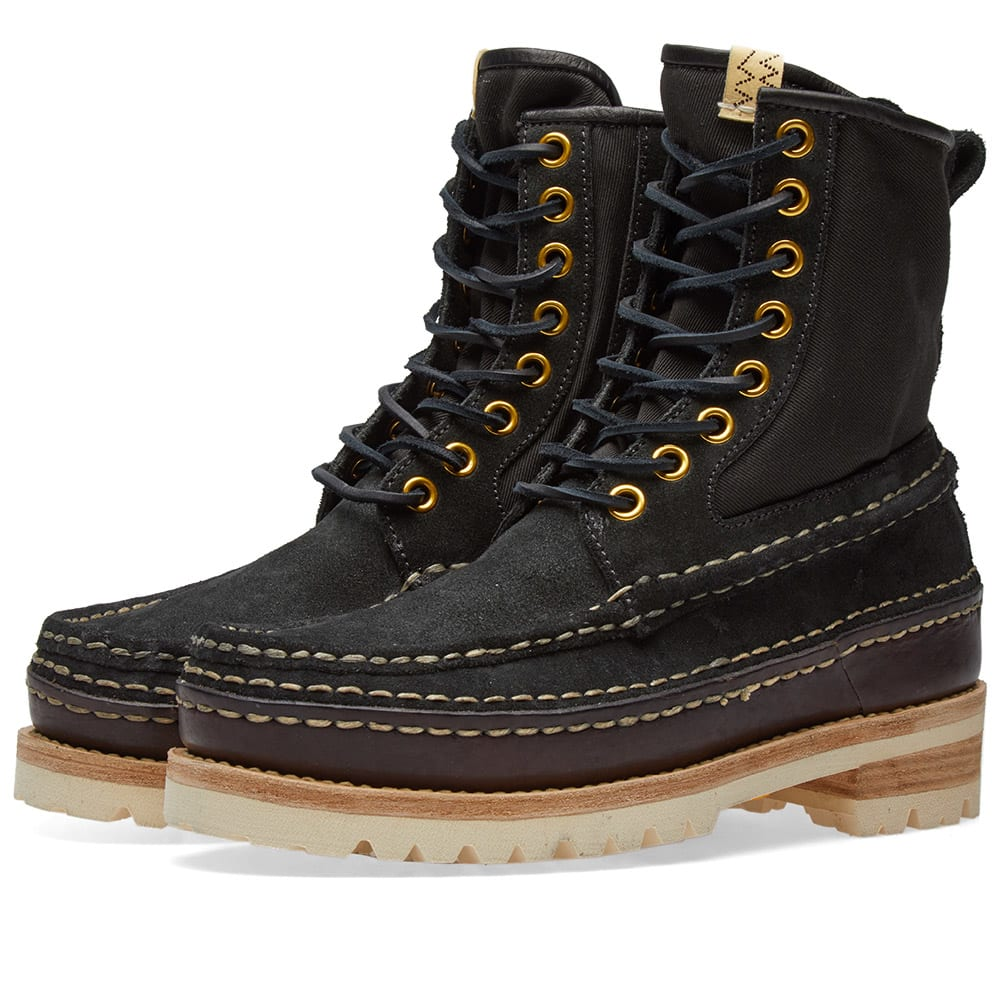 In Black And Panelled Twill Grizzly Visvim Rubber Boots Suede S18aa0