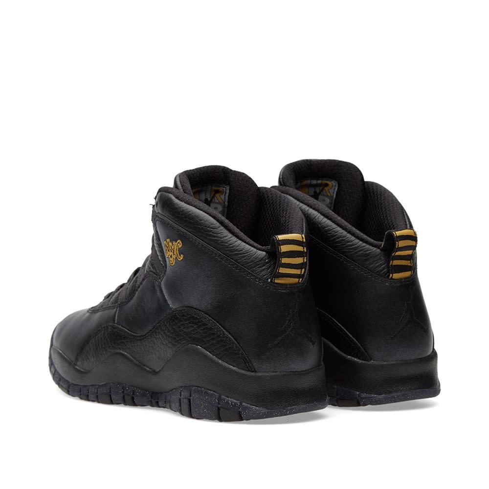 reputable site bf1bc 20317 Nike Air Jordan 10 Retro BG Black, Dark Grey   Gold   END.