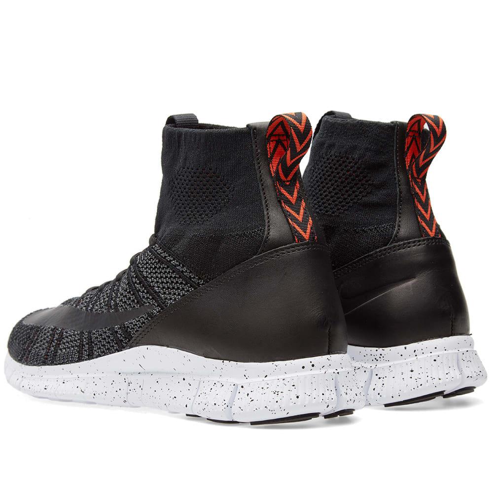 official photos f4bd9 0cf4b Nike Free Flyknit Mercurial Black, Dark Grey   Team Orange   END.