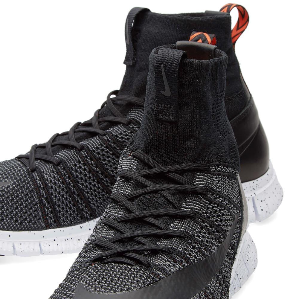 76d481d31938 Nike Free Flyknit Mercurial Black