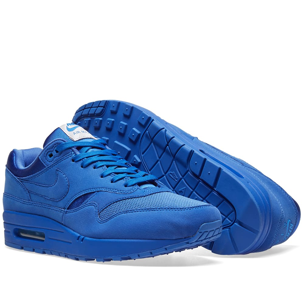 Details about Nike Air Max 1 Premium Sneakers Game Royal Blue 875844 Size 8.5