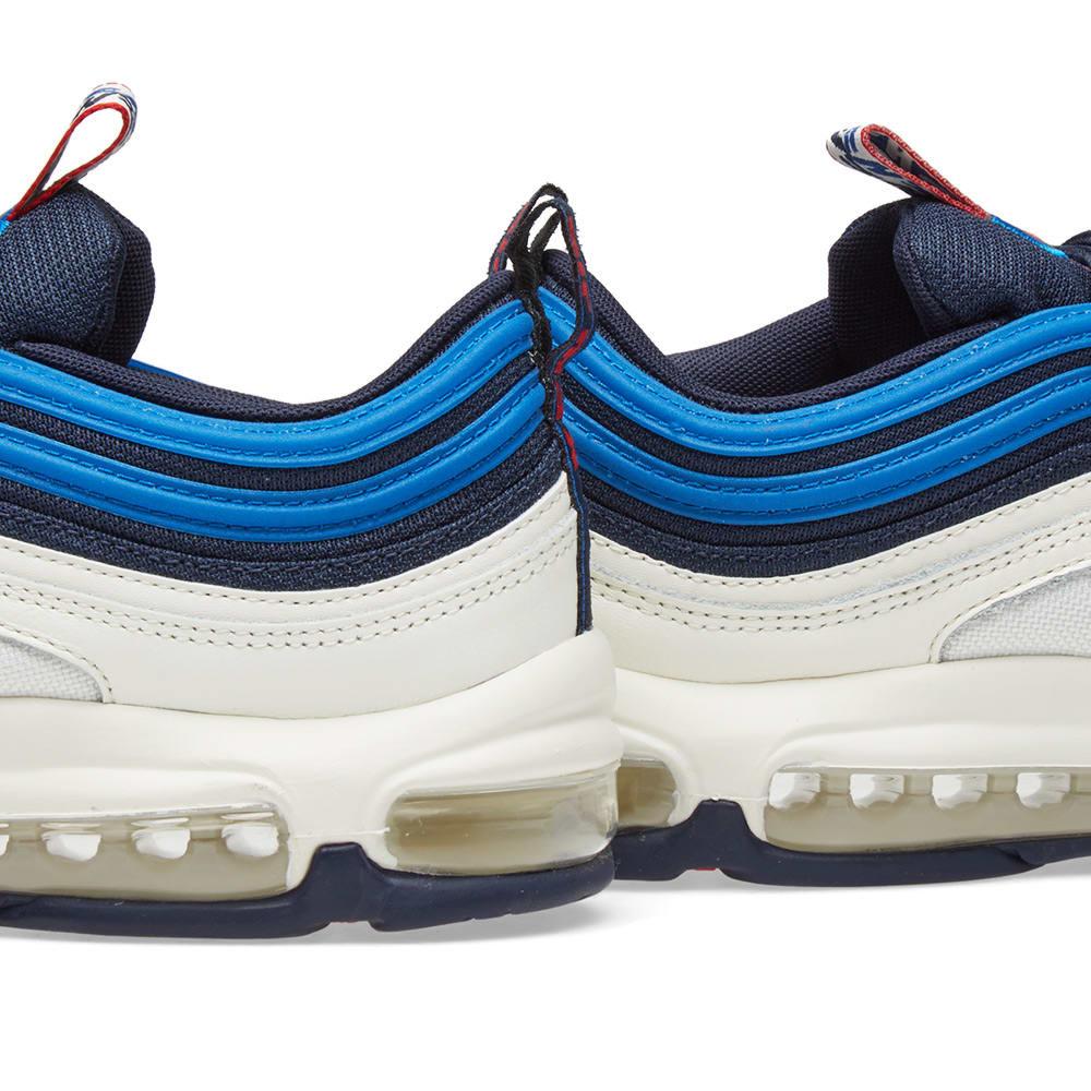 f390eaeab1 Nike Air Max 97 Off White, Blue & Red   END.