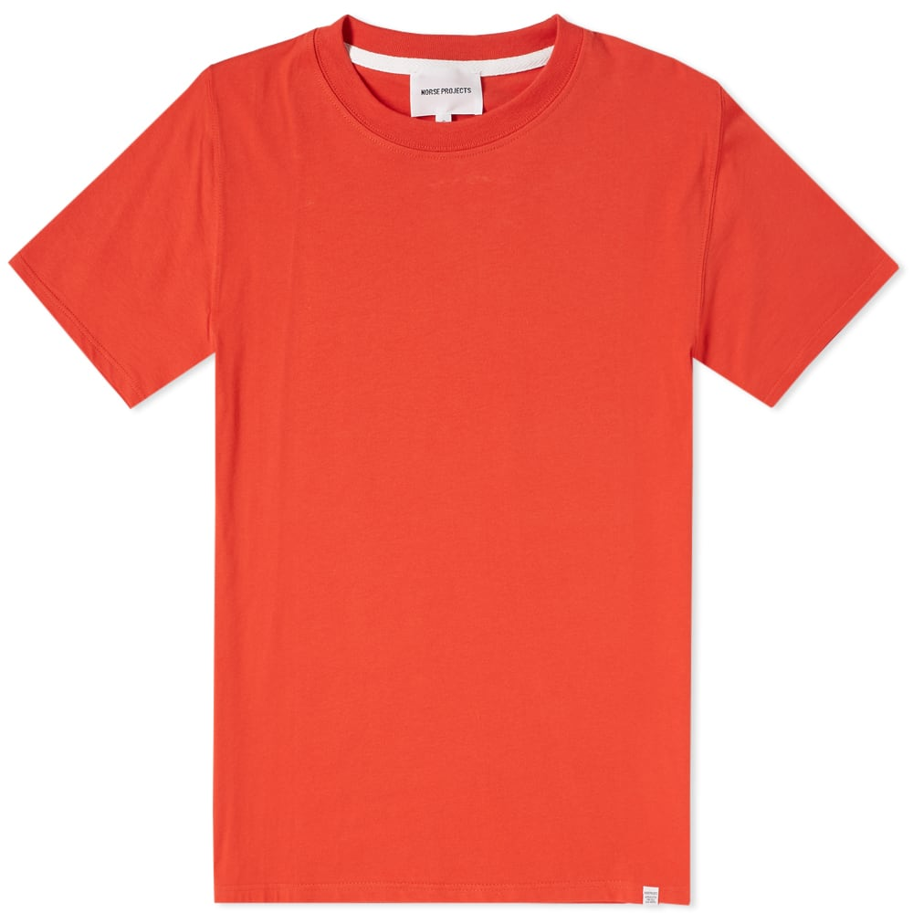 NORSE PROJECTS Niels Cotton-Jersey T-Shirt - Orange in Red
