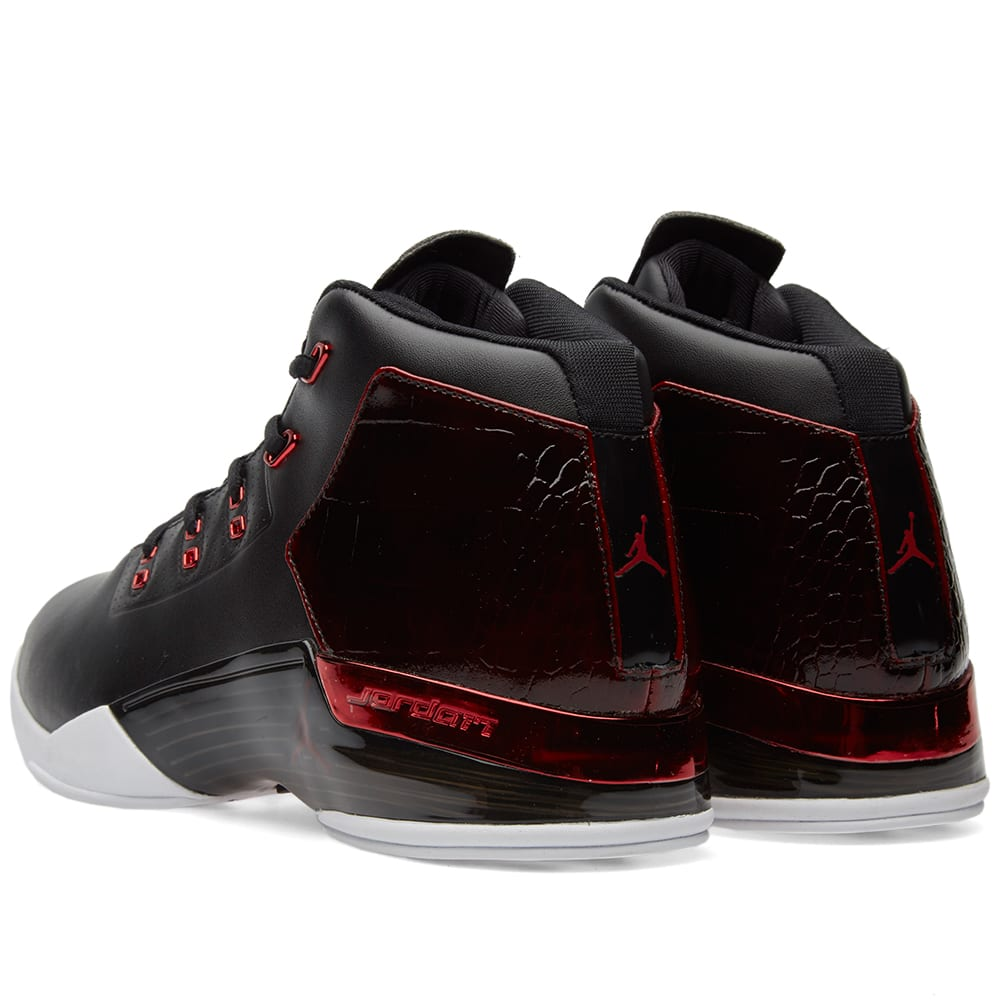 nike air jordan 17 retro black gym red white. Black Bedroom Furniture Sets. Home Design Ideas