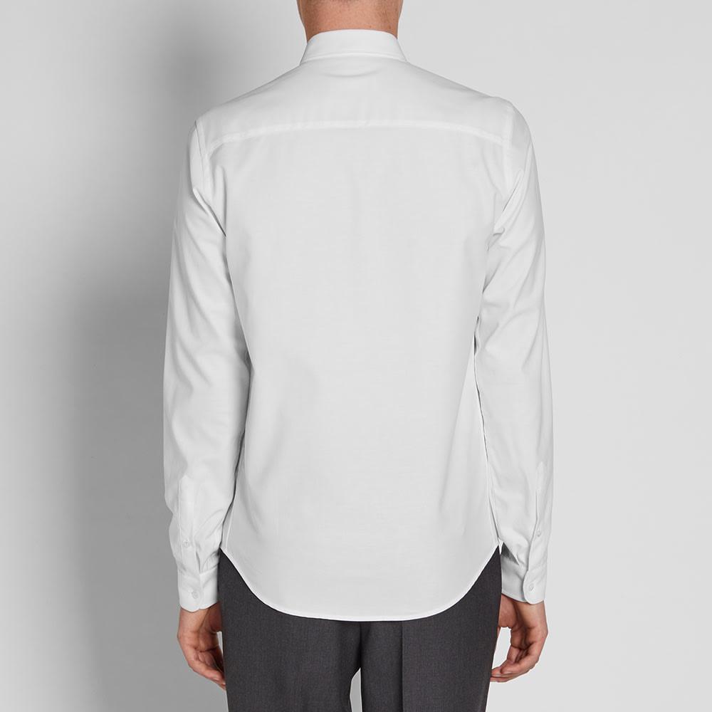 Ami button down oxford shirt white for White button down oxford shirt