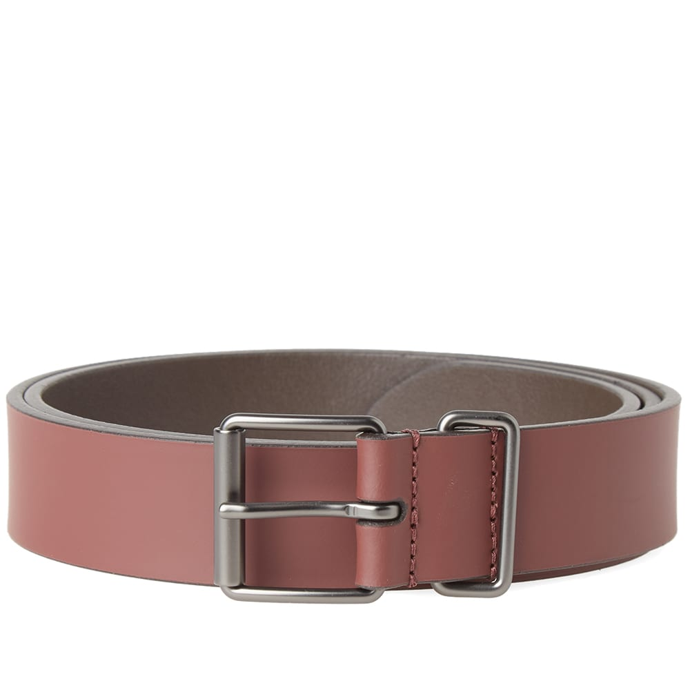 ANDERSONS ANDERSON'S SLIM RUBBERISED LEATHER BELT