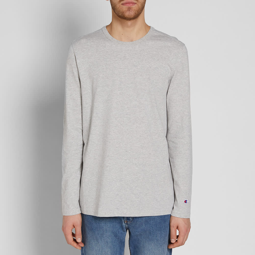 47dc5f3f5 Champion Reverse Weave Long Sleeve Classic Tee Grey Marl | END.