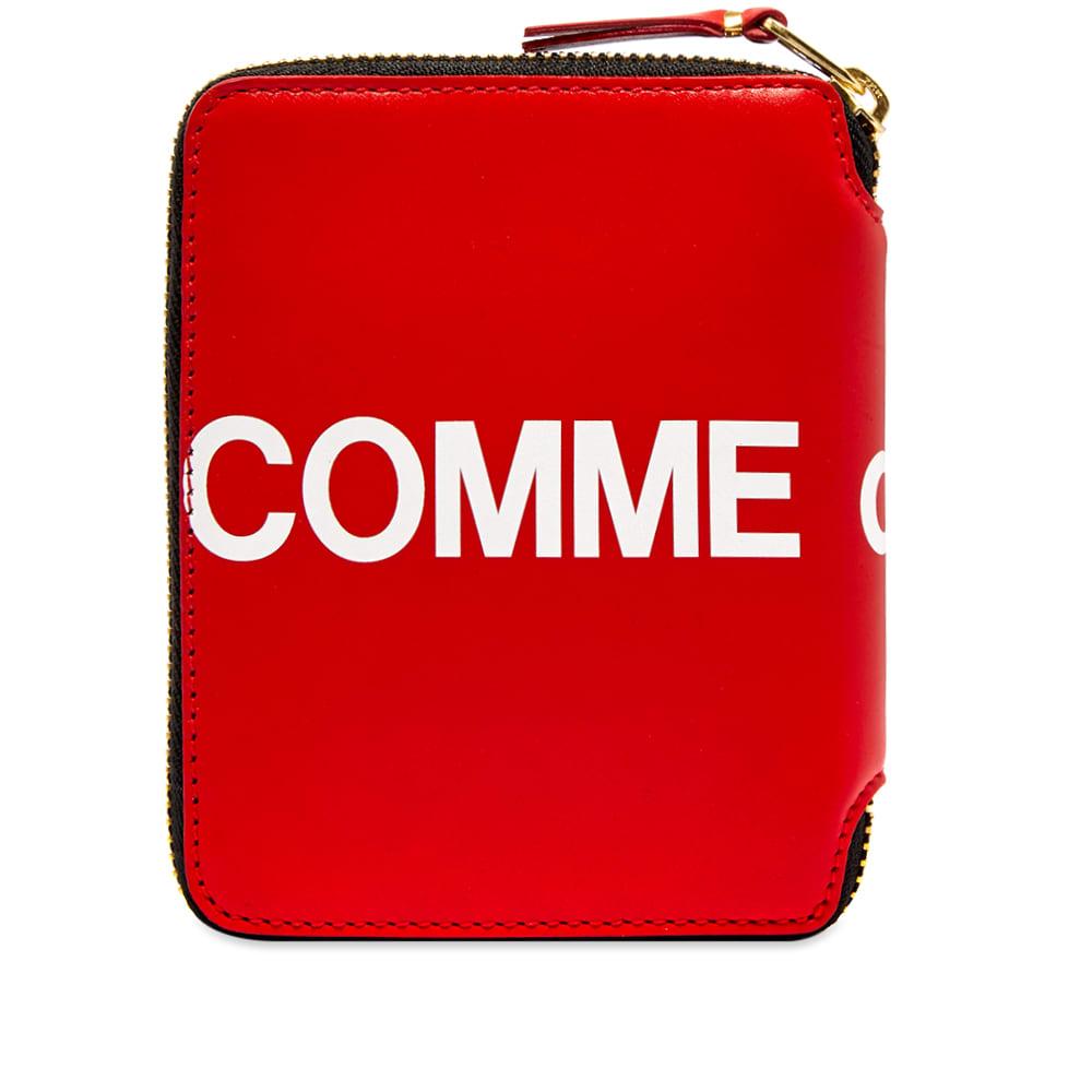 Comme Des GarÇOns Comme Des Garcons Sa2100Hl Huge Logo Wallet In Red