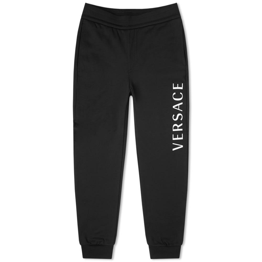 Versace Printed Logo Sweat Pant In Black