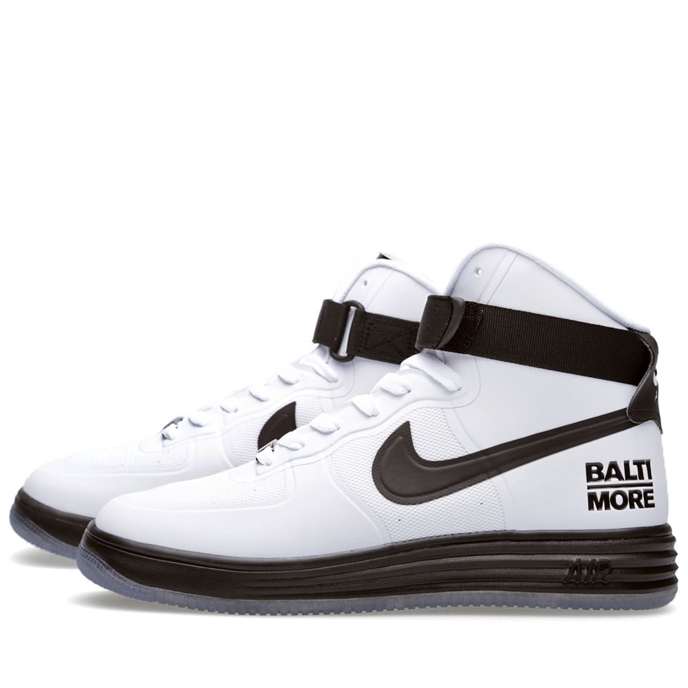 promo code 11d6c 2402a Nike Lunar Force 1 HYP Hi City QS  Baltimore  White   Black   END.