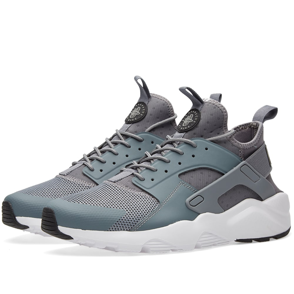 nike air huarache run ultra cool grey black white. Black Bedroom Furniture Sets. Home Design Ideas