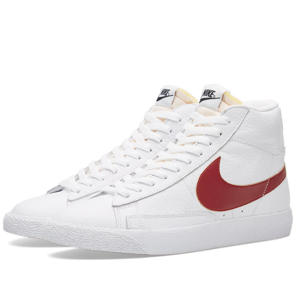 Nike Blazer Mid Top Retro (White & Team Red)