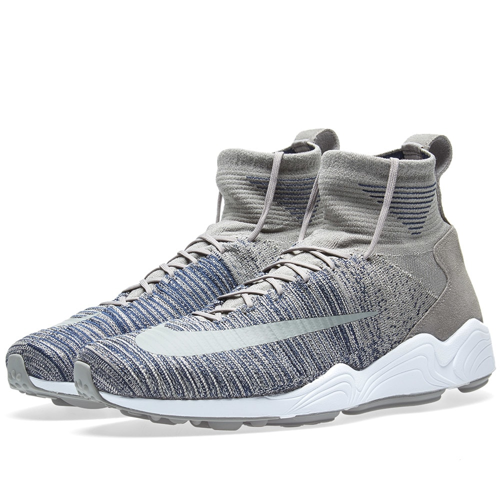 dbd344bc803e Nike Zoom Mercurial XI Flyknit Light Charcoal   White