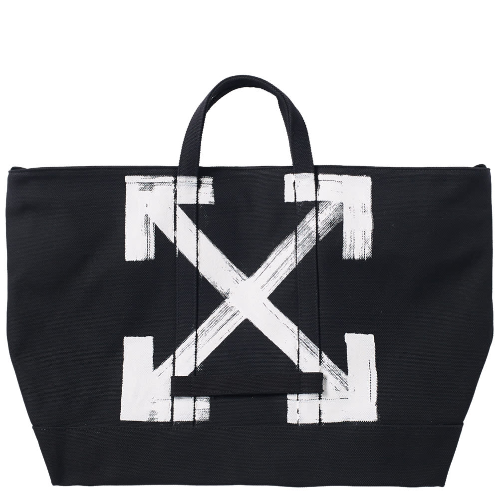 Off White Brushed Tote Bag