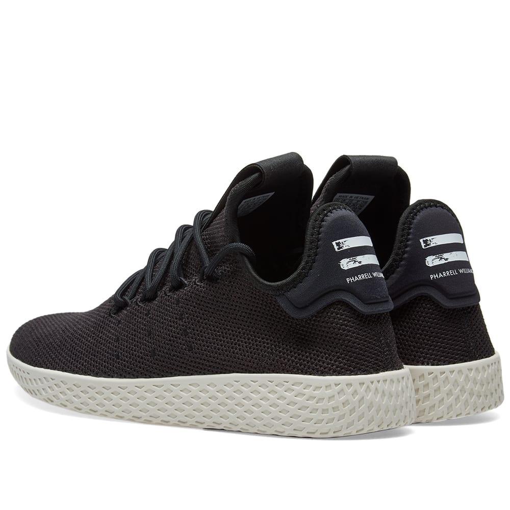 2cf67330f86b2 Adidas x Pharrell Williams Tennis HU Core Black   Chalk White