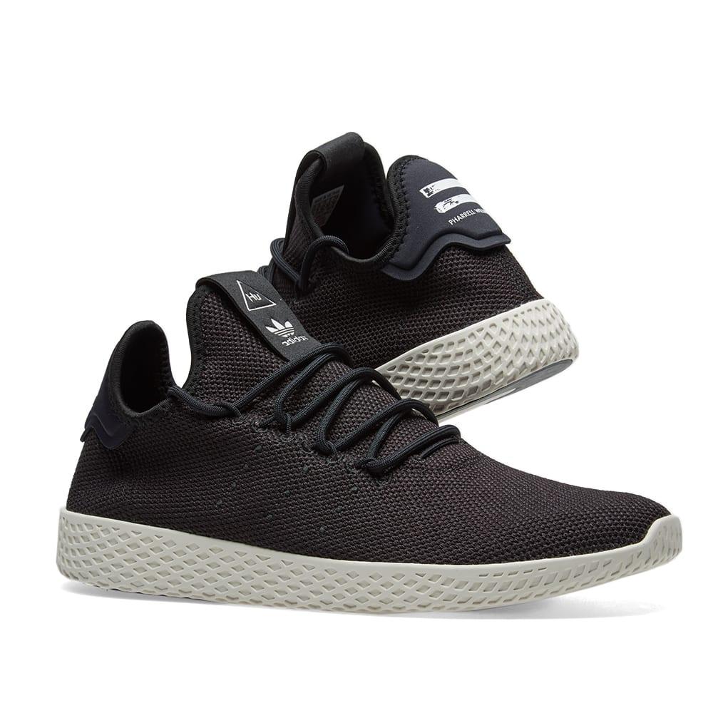 a39cab81cafd6 Adidas x Pharrell Williams Tennis HU Core Black   Chalk White