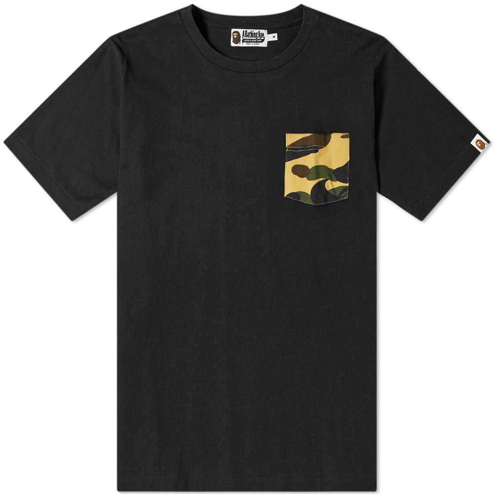 A Bathing Ape Relaxed Bape Pocket Tee In Black