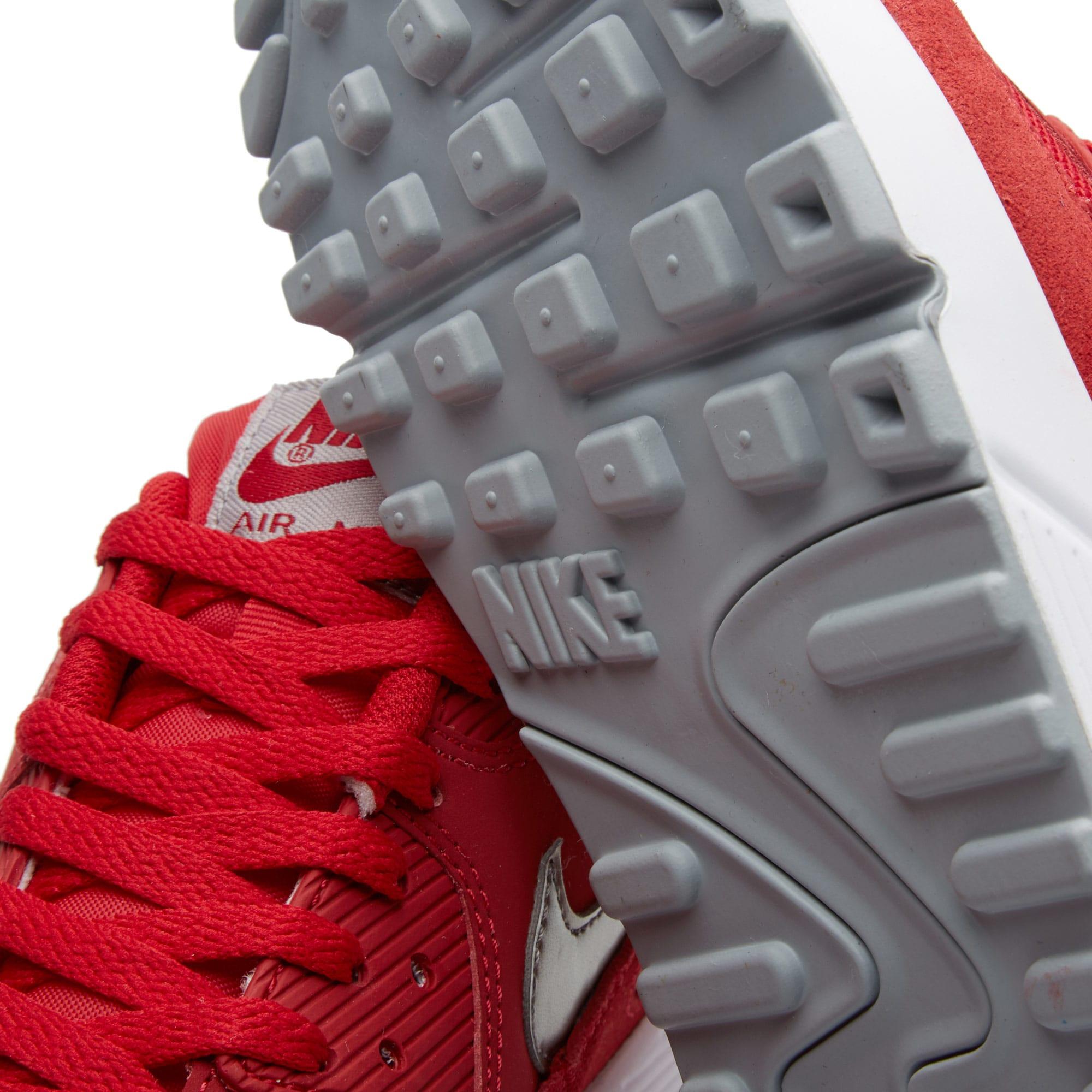 Nike Air Max 90 Essential Mens Gym RedMetallic Pewter