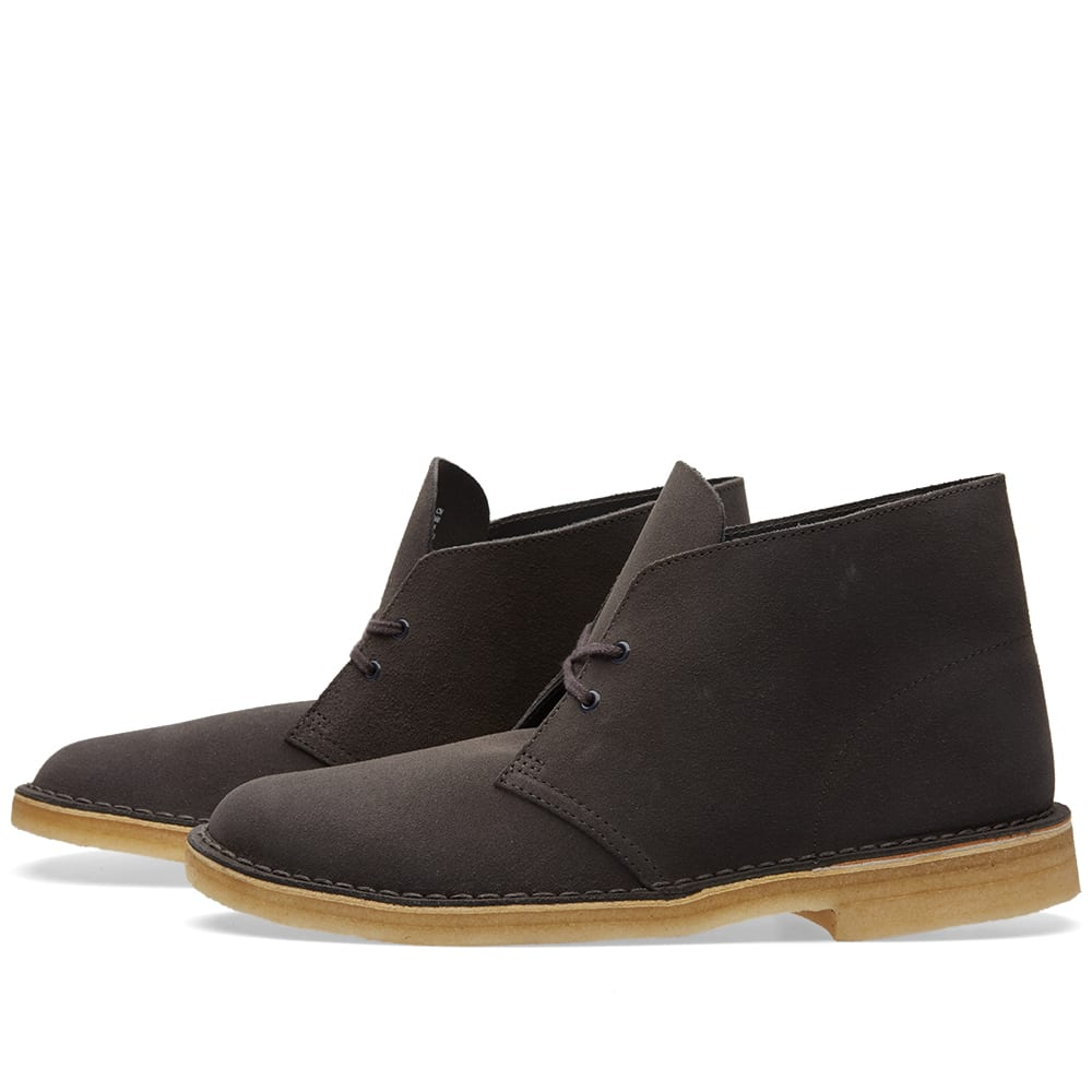clarks originals desert boot charcoal suede. Black Bedroom Furniture Sets. Home Design Ideas