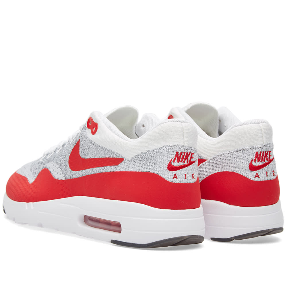 outlet store sale 3766b 6d3f2 Nike Air Max 1 Ultra Flyknit White   University Red   END.