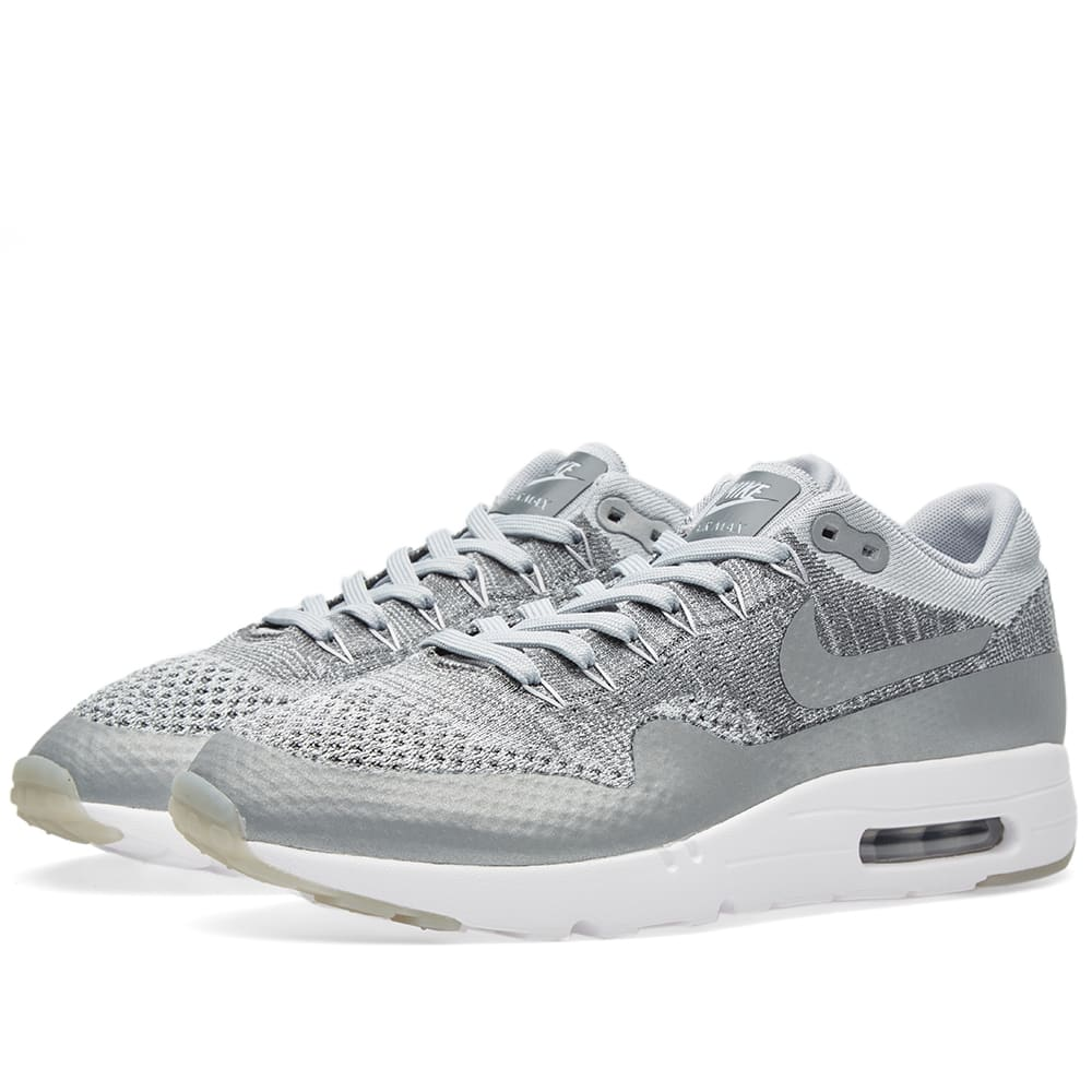 c0356bca7ecb Nike Air Max 1 Ultra Flyknit Wolf Grey   White
