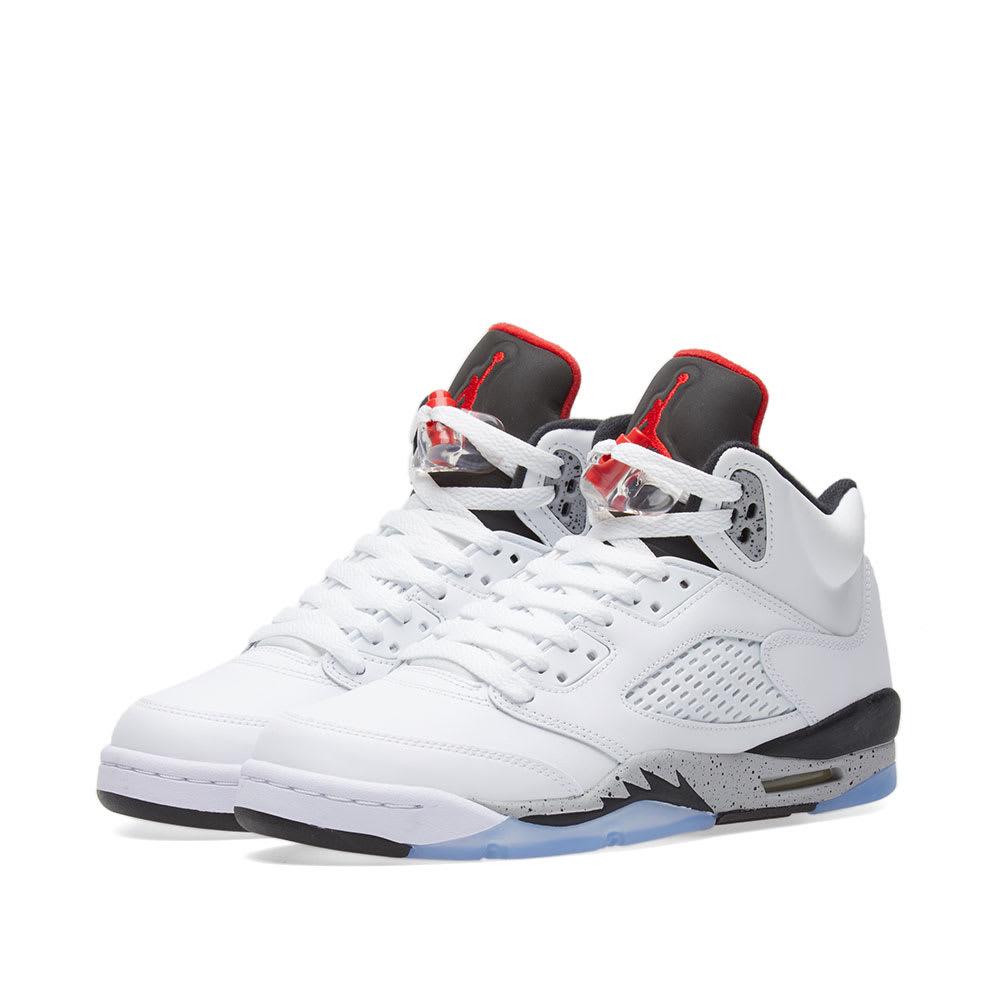 save off 6b504 15ec4 Nike Air Jordan 5 Retro GS White, University Red   Black   END.