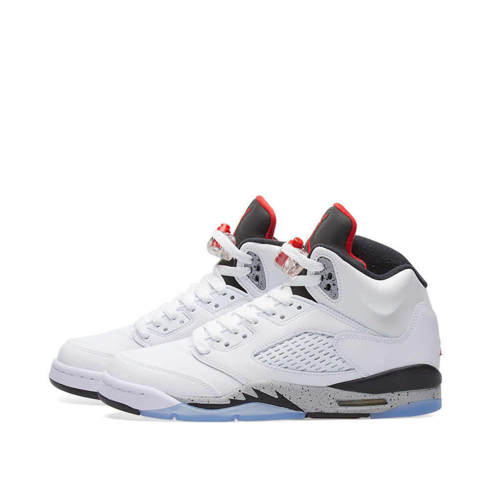 0233625790a5 Nike Air Jordan 5 Retro GS White