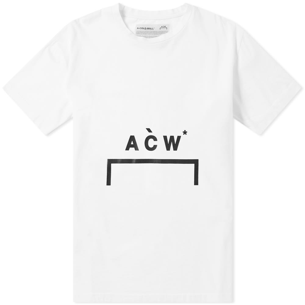 Logo Printed Relaxed Cotton T Shirt in White