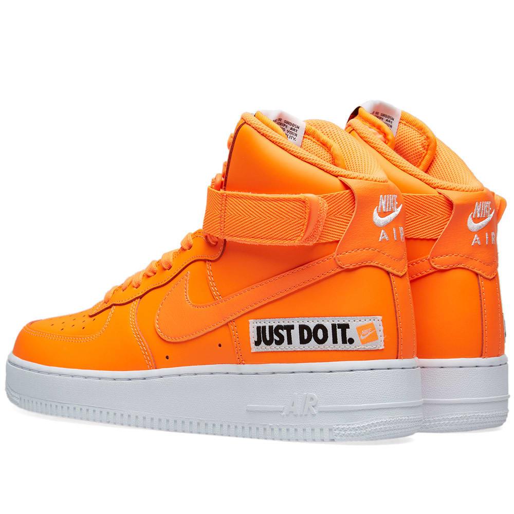nike air force 1 high orange