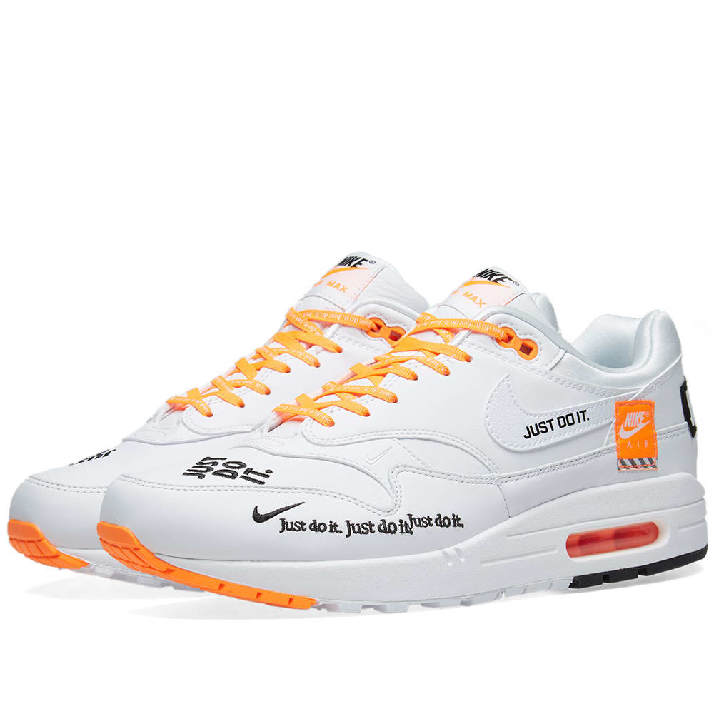 the best attitude ce73c 32c25 Nike Air Max 1 SE White, Black   Orange   END.