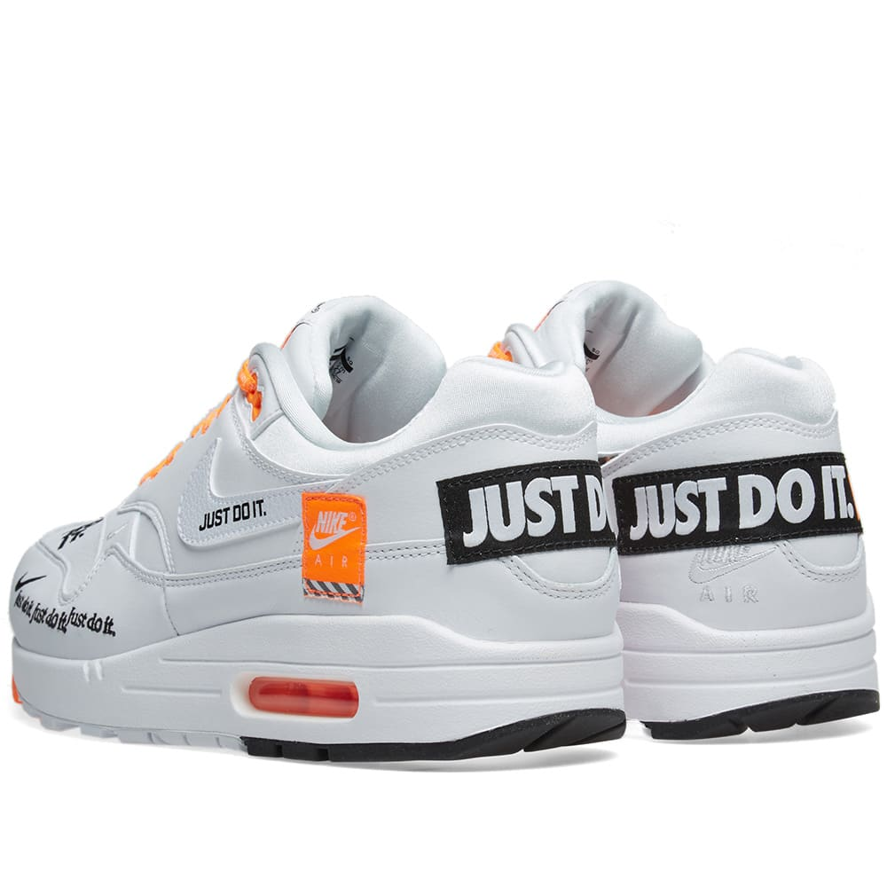 49f83dfa33 Nike Air Max 1 SE. White, Black & Orange