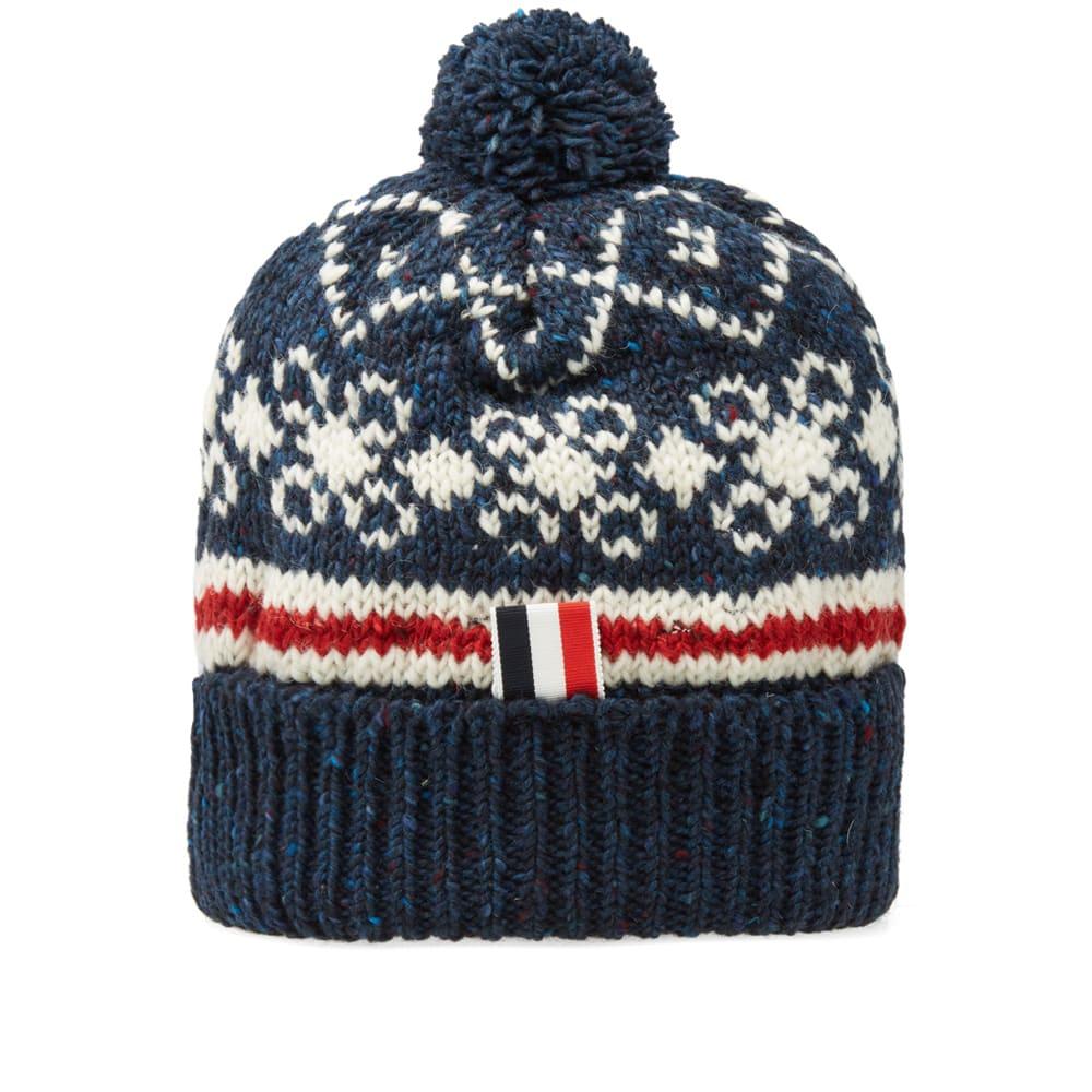 129b480c9 Thom Browne Fair Isle Pom Pom Hat