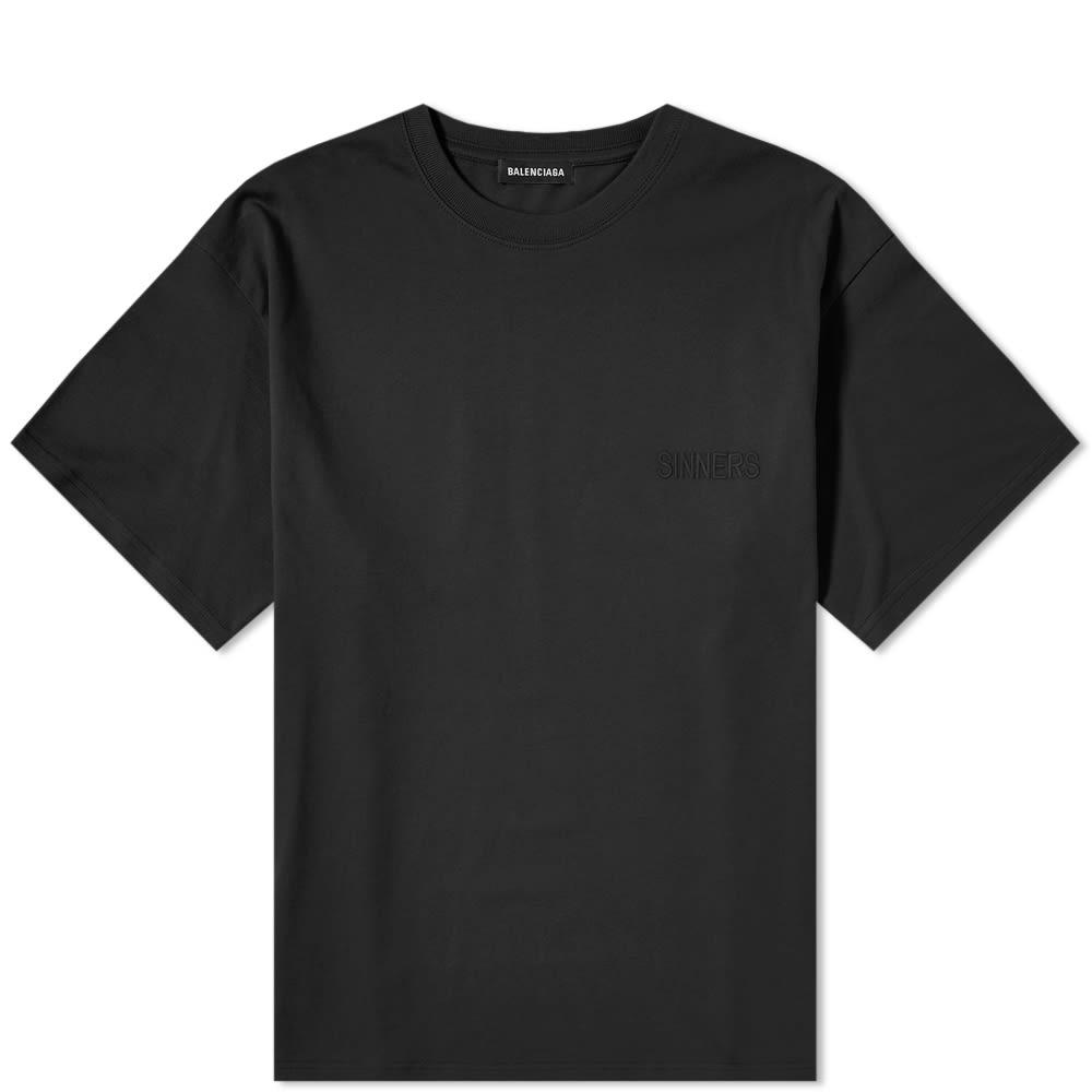 3fcd179bba32 Balenciaga Oversize Sinners Tee Black | END.