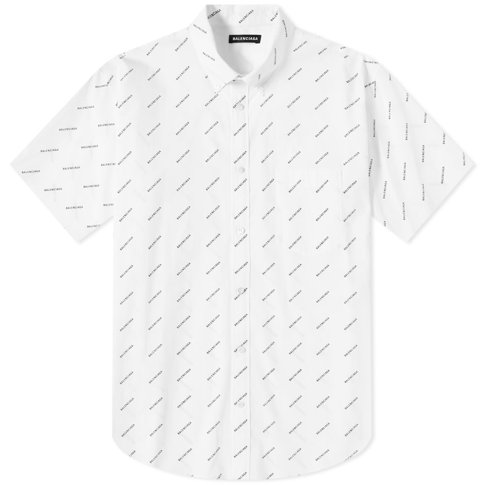 Balenciaga Short Sleeve All Over Print
