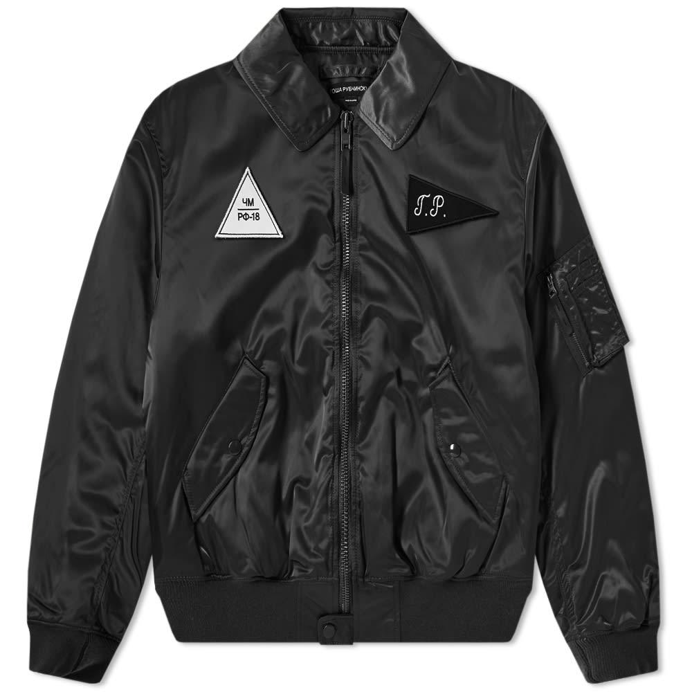 GOSHA RUBCHINSKIY Black Zip Up Bomber Jacket