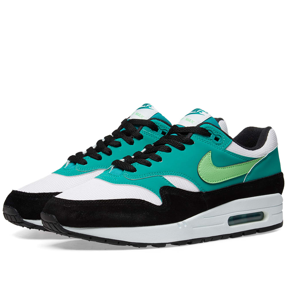 watch 7a992 aa0da Nike Air Max 1 White, Green   Black   END.
