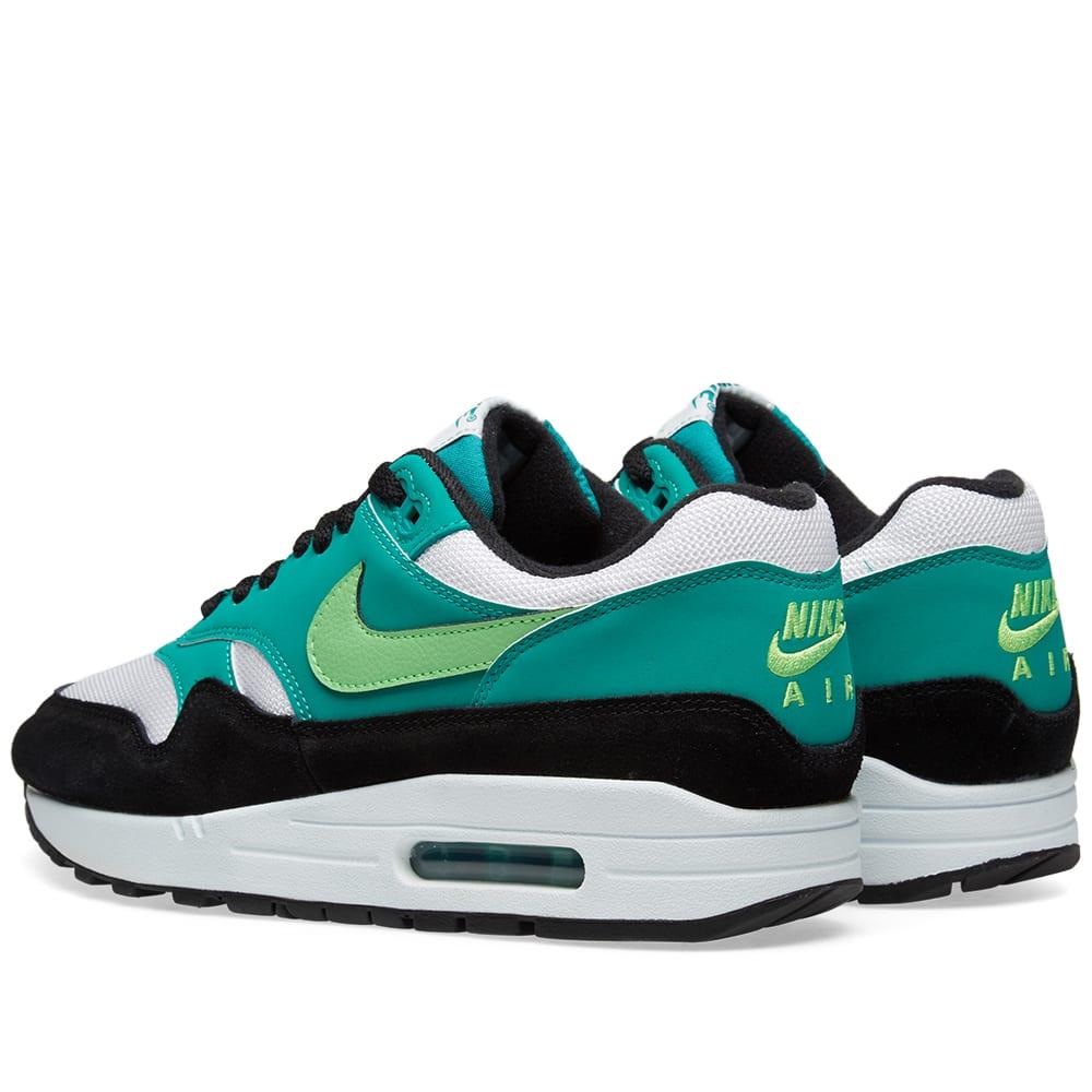 watch 3f4b9 96528 Nike Air Max 1 White, Green   Black   END.
