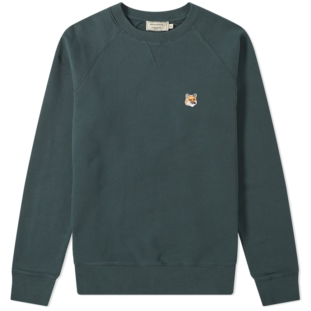 Maison Kitsuné Tops Maison Kitsuné Fox Head Patch Crew Sweat