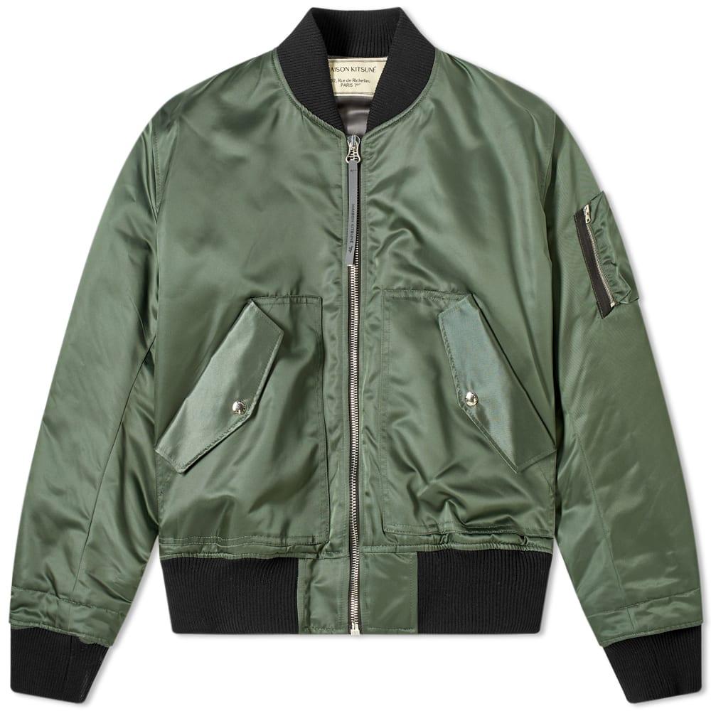 Maison Kitsuné Jackets Maison Kitsuné MA-1 Bomber Jacket