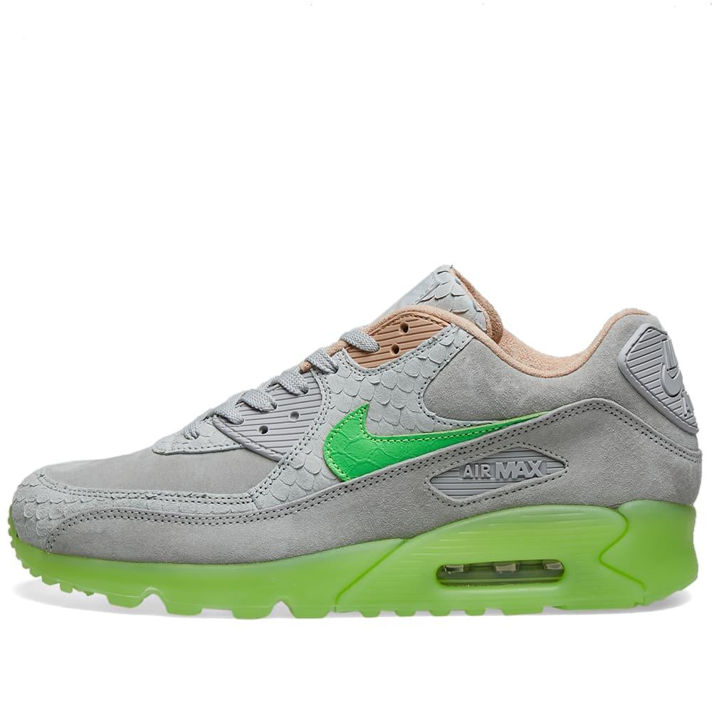 nike air max 90 green and grey