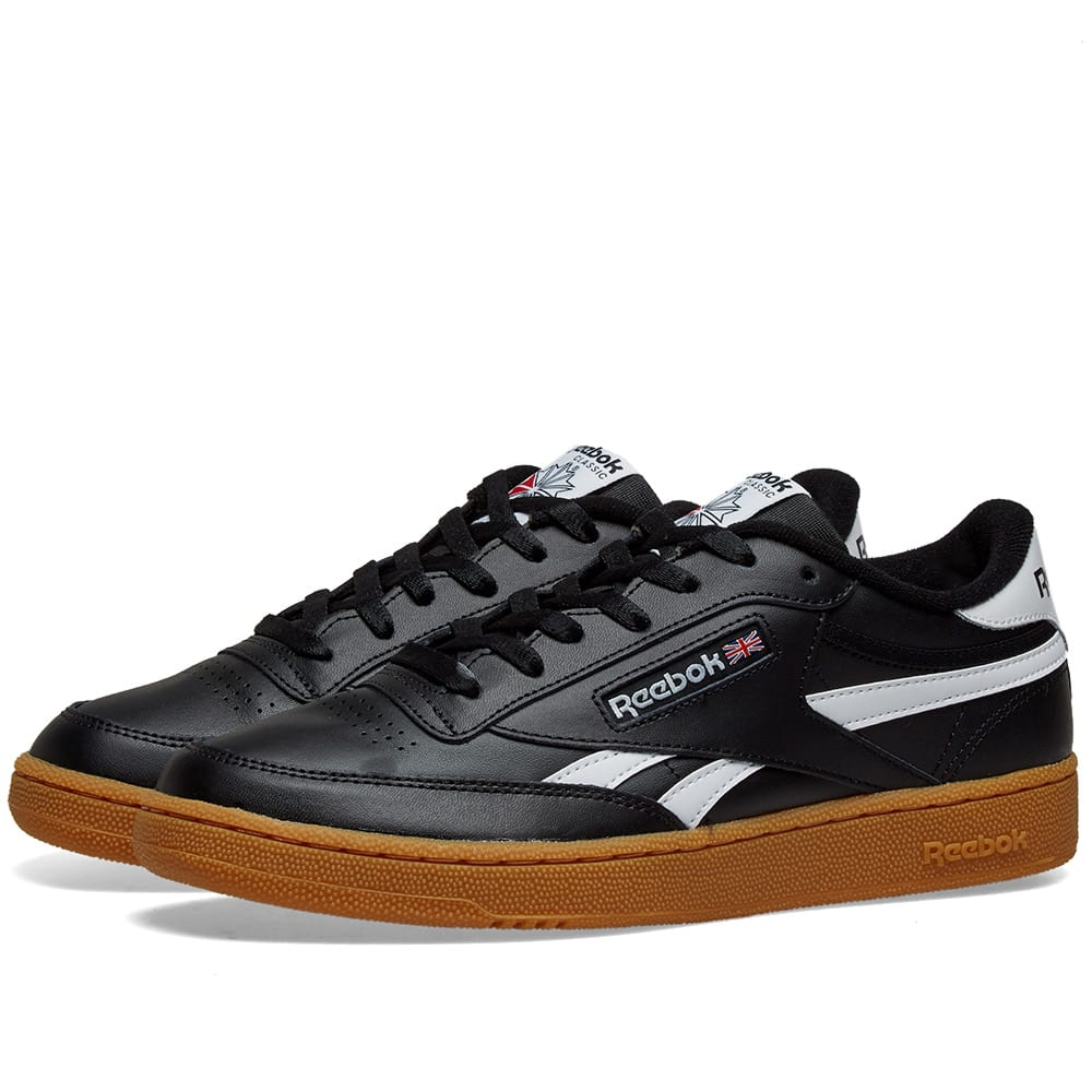 Reebok Mens Revenge Plus Black//White Gum Fashion Sneaker Size 10